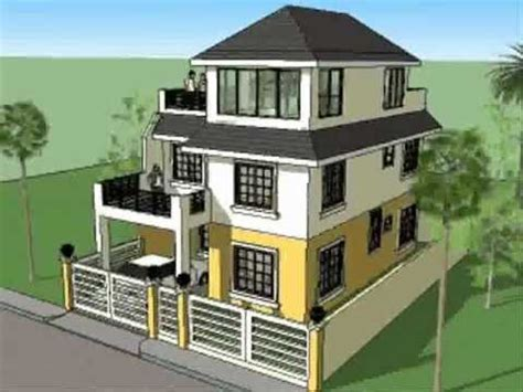 small 3 story house plans house plan designs 3 storey w roofdeck youtube
