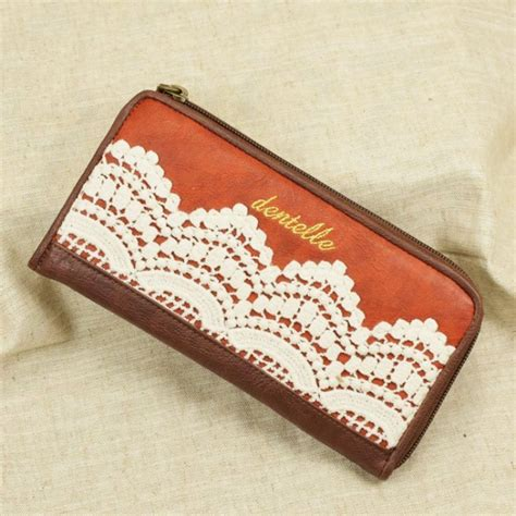 Handmade Billfolds - retro lace handmade leather wallets gifts for