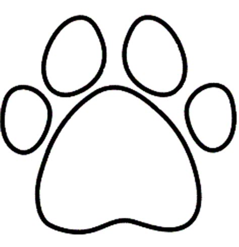 coloring pages of paw prints paw colouring picture