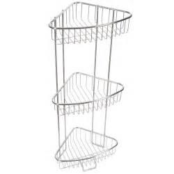 3 tier stainless steel corner shower caddy