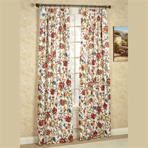 floral drapes cornwall pinch pleat thermal room darkening floral curtains