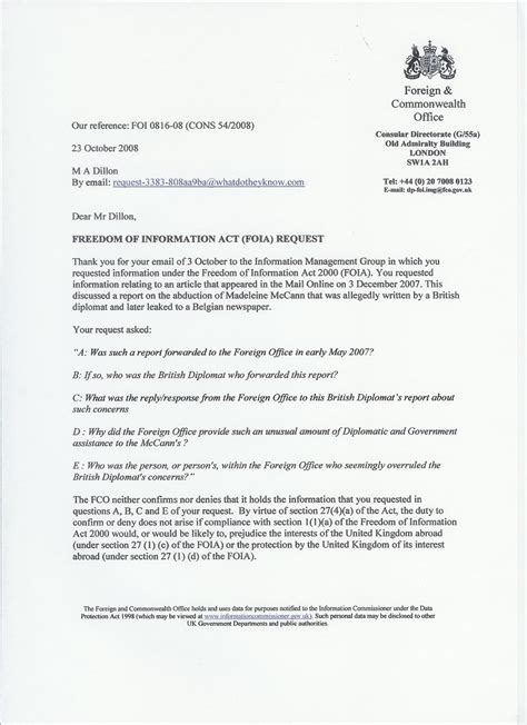 foia request template freedom of information requests freedom of information