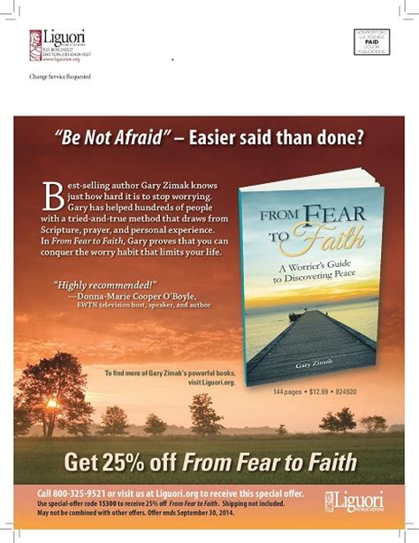 another great reason to go from fear to faith following