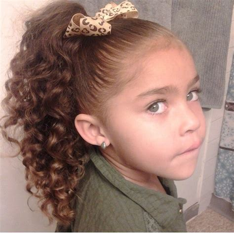 mixed girl hairstyles curly gorgeous little girl with amazing green eyes and long