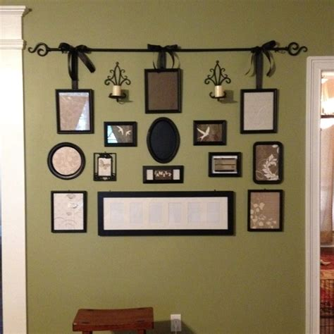 Kitchen Curtains At Family Dollar Gallery Wall From Various Picture Frames Painted Black