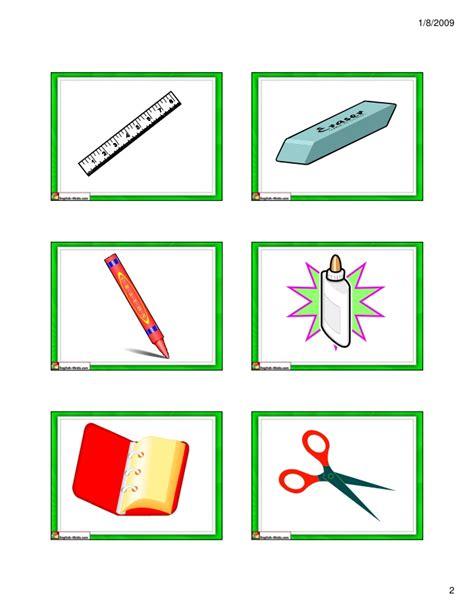 Gift Card Supplies - school supplies flash cards small