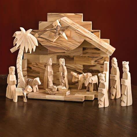 Handmade Wooden Nativity Sets - handcrafted olive wood nativity set national geographic