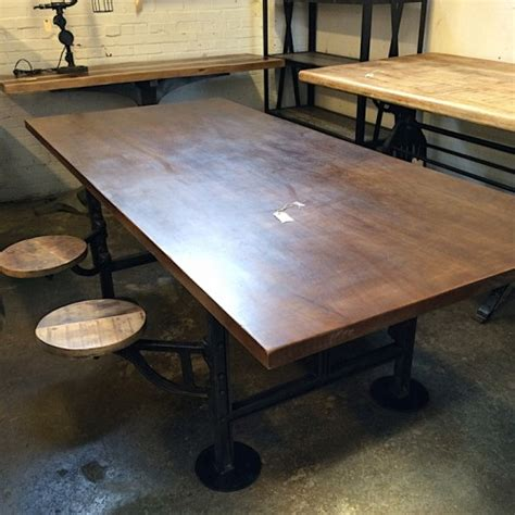 built in dining table amazing industrial dining table with built in swivel