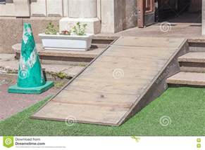 Wooden Ramped Access Using Wheelchair Ramp For Disabled Home Handicap Ramp