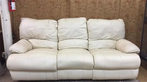 cream colored sectional sofa cream colored leather sofa with one recliner