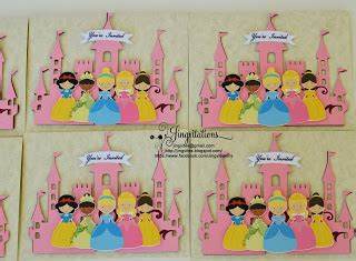 Pita Handmade Princess Cinderella Baby birthday and baby shower invitations handmade princess
