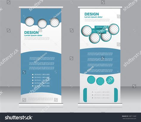 roll up banner stand template abstract background for