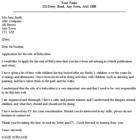 reference letter for babysitter example of a reference letter final