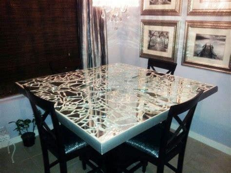 Diy Broken Mirror Dining Table Top Dining Room Table Diy Dining Table Top