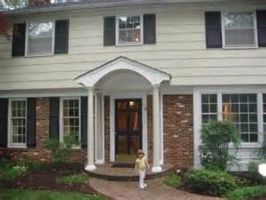 portico on colonial house portico added to update garrison style home curb appeal pinterest home porticos and the o
