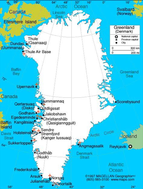 map of greenland cities maps greenland map maps of greenland europe