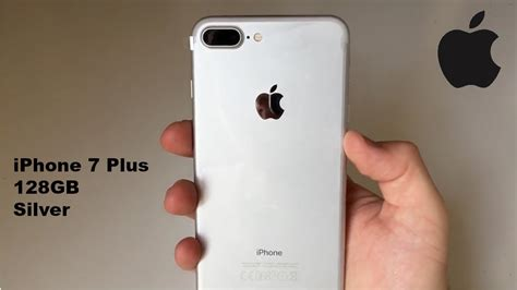 iphone 7 plus 128gb silver unboxing
