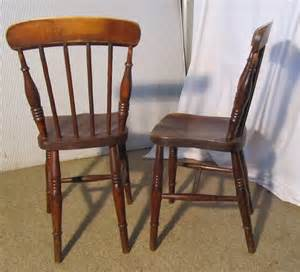 Antique Kitchen Chairs by 4 Beech Elm Stick Back Kitchen Chairs