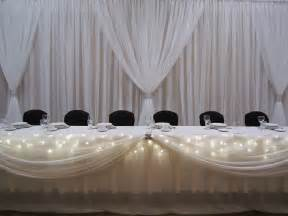Draping Wedding Bouquets White Backdrop Set The Mood Decor