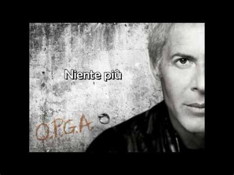 niente piu testo claudio baglioni niente pi 249 nuovo singolo 2009 qpga