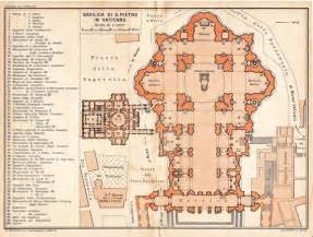 basilica floor plan saint peter basilica architectural floor plan vatican city 1933 renaissance architecture