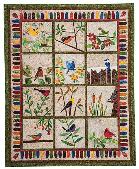 Quilt Patterns With Birds by Backyard Birds 12 Quilt Blocks To Appliqu 233 From O
