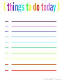 Things To Do In Today Project Organize Free Printable Planner