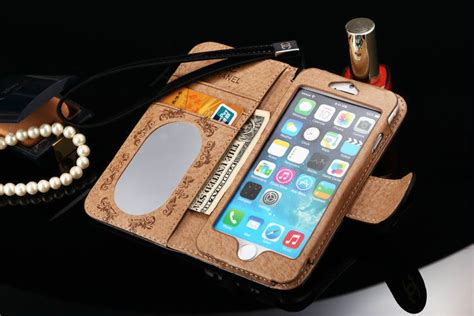 Flip Mirror Transparan Bening Book Cover Casing Iphone 6 55 Inch buy wholesale best mirror chanel folder leather book flip holster cover for iphone 6