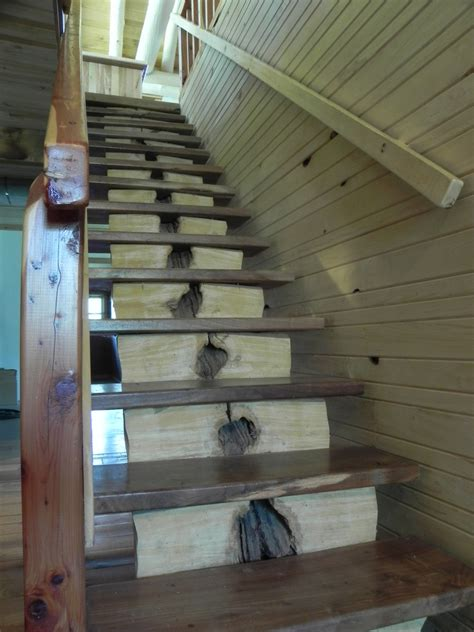 Premade Banister Rustic Stairway Fine Homebuilding