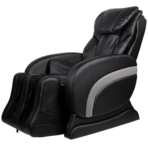 leather massage chair recliner electric artificial leather recliner massage chair black