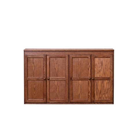 Oak Storage Cabinet Concepts In Wood Multi Storage Oak Storage Cabinet Kt6036 D The Home Depot