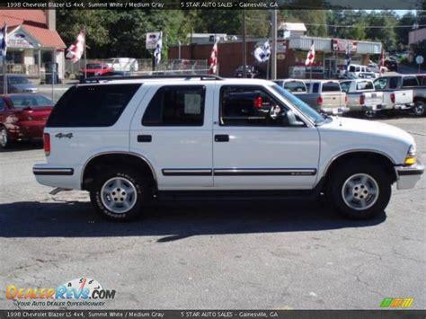1998 chevrolet blazer ls 1998 chevrolet blazer ls 4x4 summit white medium gray