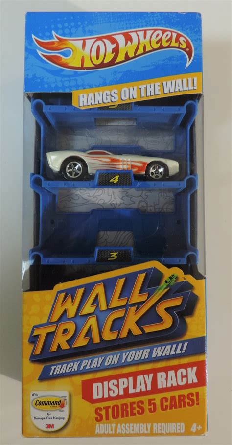 Wheels Wall Display Rack by Wheels Wall Tracks Display Rack With 1 Car New