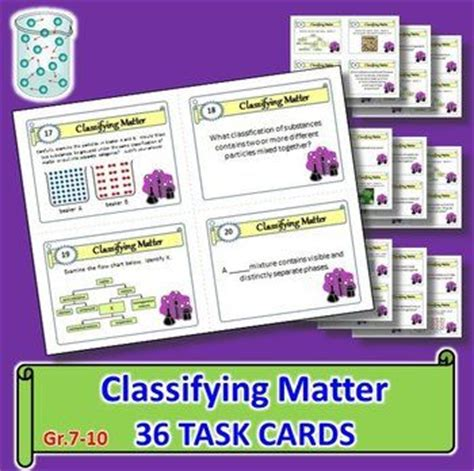 because i said i would card template classifying matter task cards with editable template