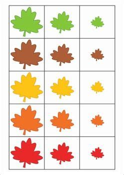 printable leaves for sorting autumn fall math centers autumn chang e 3 and math