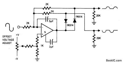 1n914 diode function signal separator basic circuit circuit diagram seekic