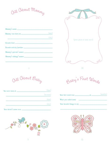 free printable baby book templates search results for baby templates for free calendar 2015