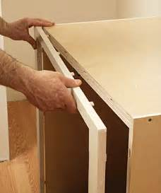 Attaching Frame To Cabinet Carcass by How To Install Cabinets In Tight Spots Homebuilding