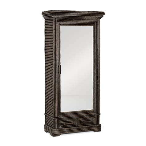 mirrored door armoire rustic armoire with mirrored door la lune collection