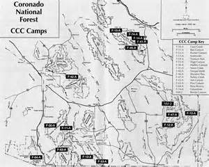 arizona forest road map the civilian conservation corps in southern arizona