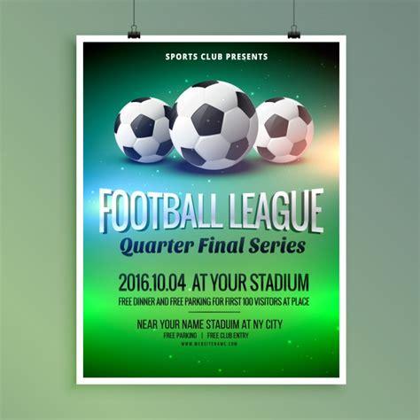 Muster Einladung Fußballturnier Fu 223 Fu 223 Liga Ereignis Flyer Poster Design Vorlage Der Kostenlosen Vektor