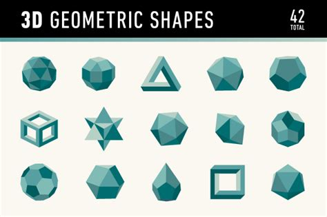 How To Make 3d Geometric Shapes Out Of Paper - 3d geometric shapes graphics on creative market