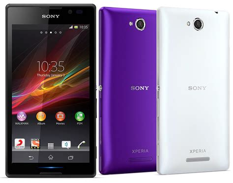 sony xperia c dual sim android phone officially launched