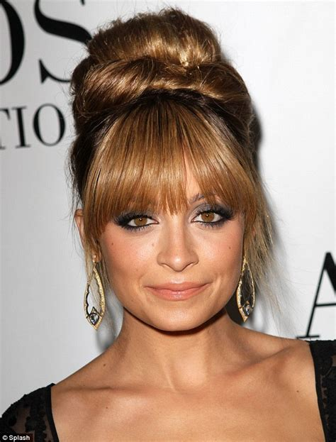 70s bun hairstyles nicole richie goes back to the sixties with beehive do as