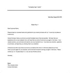 Business Thank You Letter Format Exle Thank You For Your Business Letter To Client Cover