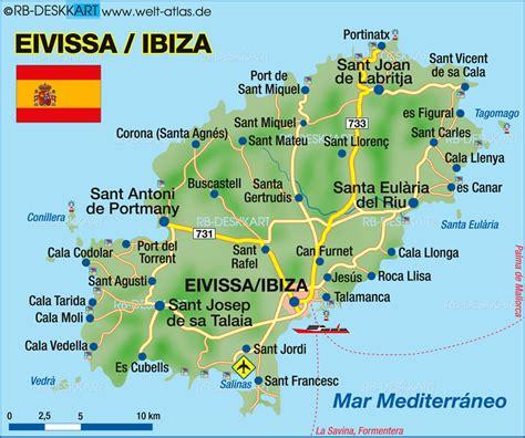 printable ibiza road map spain ibiza map