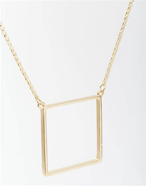 square necklace aurum jewelry