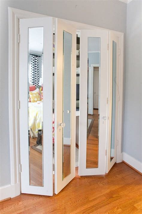closet door accessories best 25 mirrored bifold closet doors ideas on