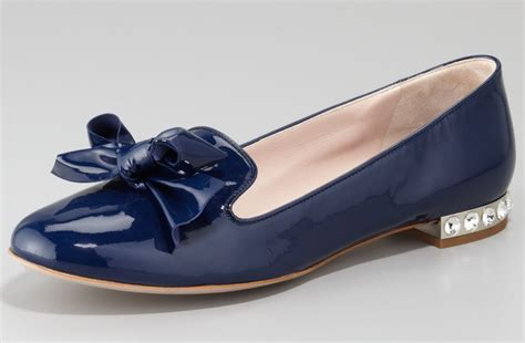 navy blue flat wedding shoes navy blue wedding shoes miu miu flats onewed