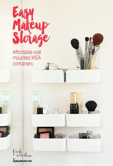 bathroom makeup storage best 25 makeup storage containers ideas on